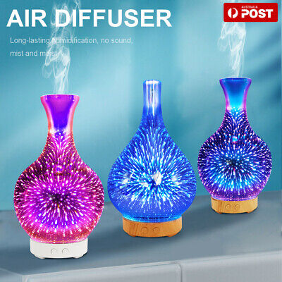 AU32.39 • Buy  3D Aroma Aromatherapy Diffuser Essential Oils Ultrasonic Air Humidifier 7 LEDS