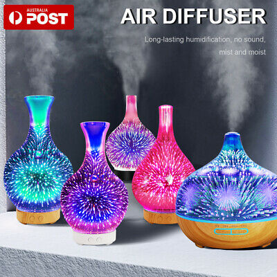 AU30.55 • Buy 7 LEDS 3D Aroma Aromatherapy Diffuser Essential Oils Ultrasonic Air Humidifier