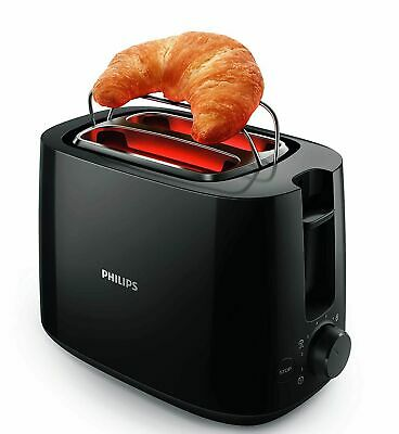 £51.47 • Buy Philips Daily Collection HD2583/90 600-Watt 2 In 1 Toaster And Grill (Black)