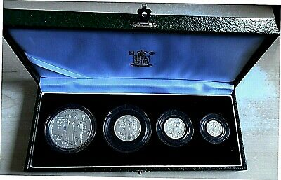 £77 • Buy 2001 Royal Mint Britannia 4 Coin Proof Set, 1.85 Tr Oz Pure Silver, Box And Cert