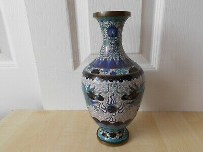 £300 • Buy Chinese Republic Period Cloisonne Vase With Dragons - Lao Tian Li? 19th 20th C