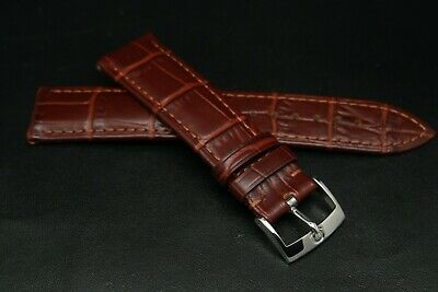 £49 • Buy Genuine Omega 20MM Brown Alligator Skin Strap With Silver Buckle For Omega Watch