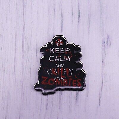 £5.99 • Buy Keep Calm And Kill Zombies Enamel Pin Magic Brooch For Fans Coat Scarf Sweate...