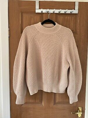 £0.99 • Buy H&m Beige Oversized Jumper Size Small But Would Fit 12/14