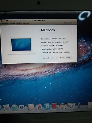 £55 • Buy Apple Macbook A1181 Core 2 Duo 2.0GHz, 2GB RAM, 160GB HDD, Good Battery.