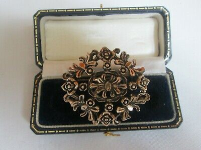 £8.99 • Buy Vintage Signed Miracle Gold Tone Floral Brooch Pin Vintage Jewellery
