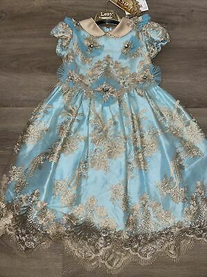 £50 • Buy Girls Lesy Ball Gown / Party Dress Size 5 Years Embroided Royal Luxury