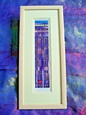 £20 • Buy Framed Glazed Signed Chris Bibby Architectural Water Colour Print Purple Mews