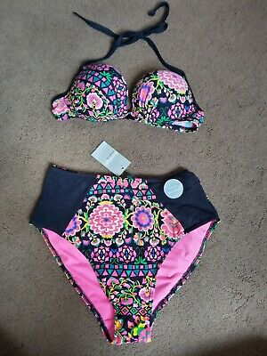 £4 • Buy George Bikini Set Top Underwired Size 32B Bottoms High Wasted  Size 8