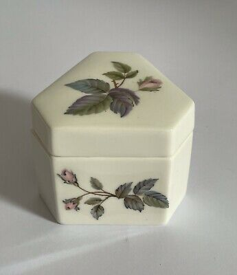 £8 • Buy Royal Worcester Trinket Box Pink Roses Excellent Condition