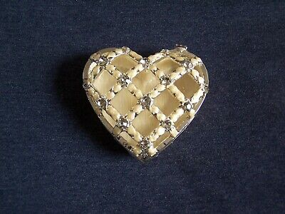 £5 • Buy HEART SHAPED TRINKET BOX WITH HINGED LID - Boxed