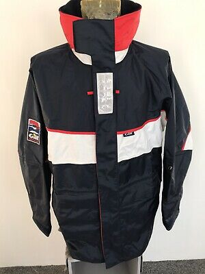 £0.99 • Buy Gill OS2 Sailing Jacket Waterproof Breathable XL Extra Large Vgc Navy White Red