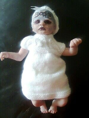 £9.99 • Buy Baby Ghost Zombie Horror Doll 14  Weighted Little Boo Halloween Prop