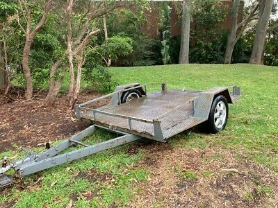 AU455 • Buy 9  X 5.5  1000GVM Table Top Plant Machinery Tipping Trailer  Unregistered