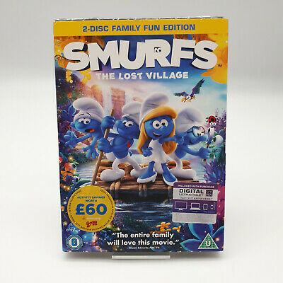 £2.99 • Buy Smurfs The Lost Village DVD 2-Disc Family Fun Edition Julia Roberts New & Sealed