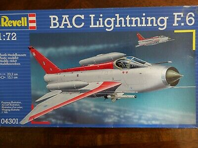 £15 • Buy 1:72 Scale Revell Plastic Model Bac Lightning F.6 English Electric Final Version