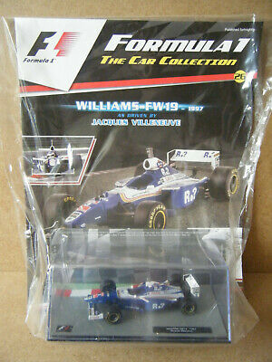 £19.99 • Buy Panini F1 Car Collection  WILLIAMS FW19- 1997  Jacques Villeneuve. New & Sealed.