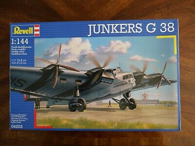 £20 • Buy 1:144 Scale Revell Plastic Model Junkers G38 4 Engine Transport Aircraft