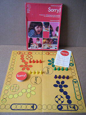 £14.99 • Buy Vintage  SORRY  Look, Learn & Play Board Game. By Waddingtons 1973. Complete.