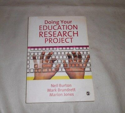 £2.99 • Buy Doing Your Education Research Project By Marion Jones, Neil Burton, Mark Brundre