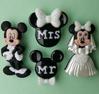 £4.75 • Buy MICKEY & MINNIE WEDDING - Disney Mouse Mr And Mrs Suit Dress It Up Craft Buttons