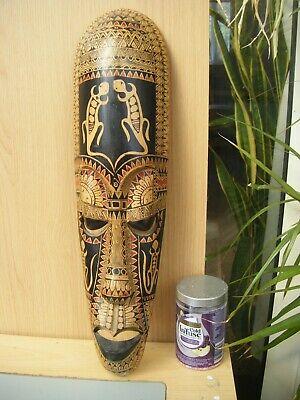£4.99 • Buy Carved Wooden Decorated African Mask