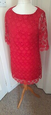 AU11.32 • Buy Ladies Special Occasion Dress Size 14 From Florence And Fred Red Lace