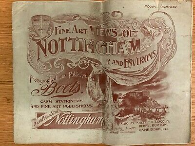 £25 • Buy FINE ART VIEWS OF NOTTINGHAM AND ENVIRONS. Late 19th Century Boots Publication.