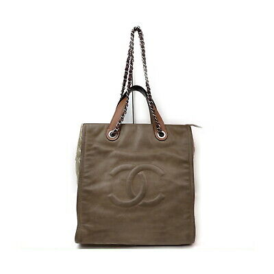 AU417.38 • Buy Chanel Tote Bag  Browns Leather 1428551