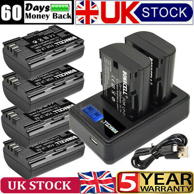 £15.99 • Buy 3.2Ah LP-E6 Camera DSLR Battery& LCD Dual Charger For Canon XC10 EOS 60D 70D 80D