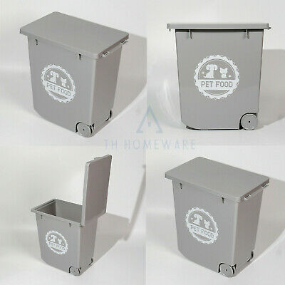 £16.95 • Buy 20L Grey Pet  Food Dry Feed Container Animal Cat Dog  Storage Bin Box Container