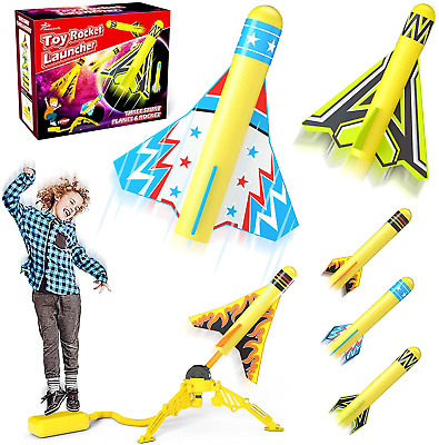AU41.74 • Buy Jasonwell Toy Rocket Launcher For Kids Sturdy Stomp Launch Toys Fun Outdoor Toy
