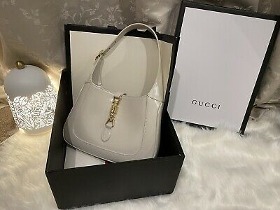 AU2200 • Buy Authentic Gucci Jackie 1961 Small Hobo Bag White