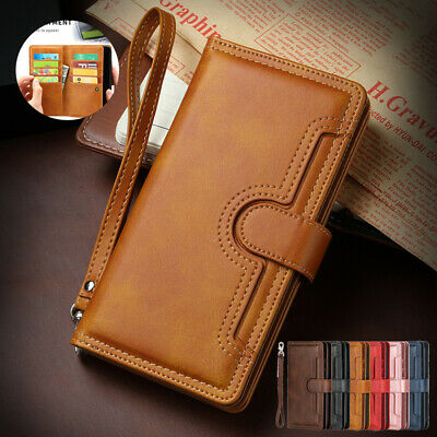 AU19.99 • Buy For IPhone 12 Mini 11 Pro Max XS XR 8 Case Leather Wallet With Strap Card Cover