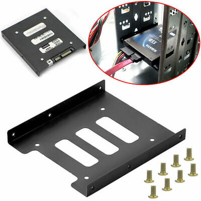 AU9.88 • Buy 2.5  SSD HDD To 3.5  Mounting Adapter Bracket Tray Dock For PC SSD Holder Black