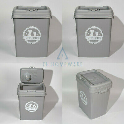 £21.95 • Buy 40L Pet Food Dry Feed Container Animal Cat Dog Box Storage Bin & Scoop - Grey