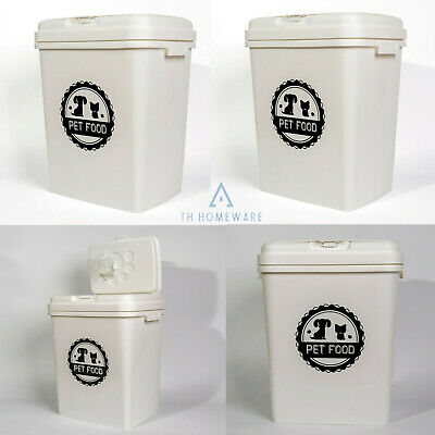 £21.95 • Buy 40 L Pet Food Storage  Dry Feed Container Animal Cat Dog Seed Box Bin New White