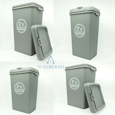 £29.95 • Buy 53l Grey Pet Food Storage Container Dog Cat Animal Dry Feed Seed Box Bin Scoop