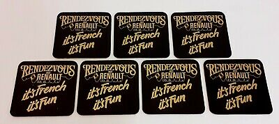 AU9.44 • Buy Rare Retro Rendezvous With Renault Car Beer Mat X7 French Car Collector VGC