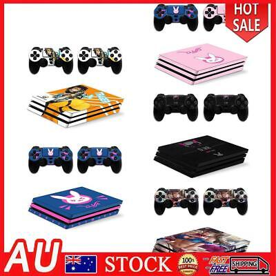 AU14.59 • Buy Cartoon Sticker For PS4 Pro Console Controller Protective Skin Decals Set