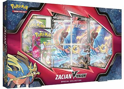 $49.99 • Buy Zacian V-Union Special Collection Pokemon Box (4 Packs + Promos) TCG NEW SEALED