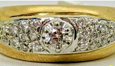 AU460 • Buy Best Diamond Ring 9ct  Diamonds Stamped 375 Yellow Gold 4.75 Grams Authentic