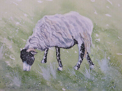 £3.50 • Buy HAND PAINTED CHRISTMAS CARD. 'Winter  Sheep' (Real Watercolour) 8 By 6