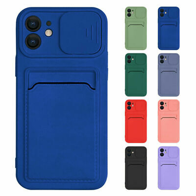AU5.73 • Buy For IPhone 13 Pro Max 11 X XS 12 8 7 Plus Case Card Slot Wallet Slim Phone Cover
