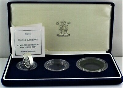 £9.99 • Buy 2003 Royal Mint The Royal Arms PIEDFORT Silver Proof One Pound £1 Coin COA Box