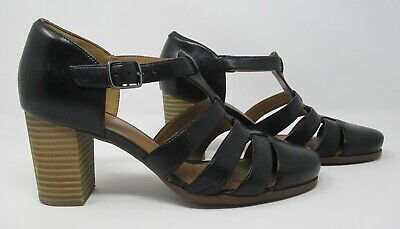 £21.99 • Buy Clarks Artisan Size 5 (38) D Black Leather Strappy High Heel Sandals