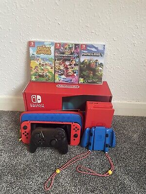 AU354.79 • Buy Nintendo Switch 32 GB Neon Blue And Red Console