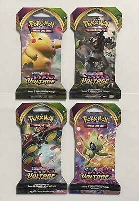 $9.99 • Buy Pokemon Vivid Voltage Sleeved Booster Pack Lot (4x) - Factory Sealed