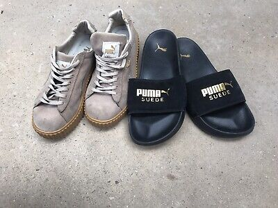 AU50 • Buy Puma Suede Sneakers By Rihanna And Puma Suede Slides Women's Size 8 Both