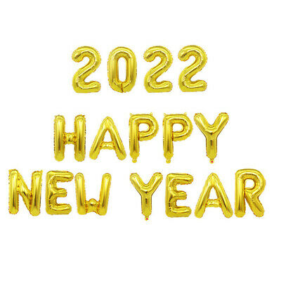 £4.98 • Buy 2022 Happy New Year Number 16  Foil Balloons Eve Party Decor Merry Christmas UK
